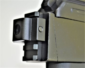 Rear pistol brace mount on the Arsenal SAM7 pistol.