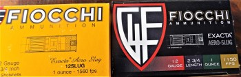 Fiocchi Shotshell ammunition boxes