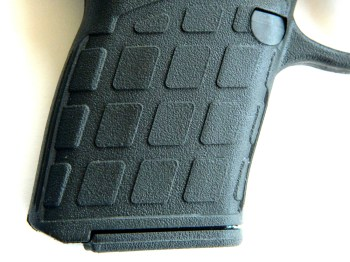 Grip texture on the Kel-Tec PF9 pistol