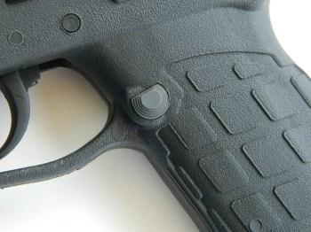 Magazine release on the Kel-Tec PF9 pistol