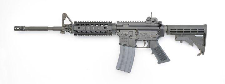 Colt M4 rifle left profile black