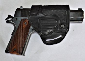 Blackhawk belt slide holster with 1911 handgun