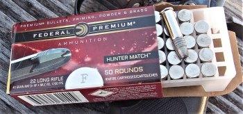 Federal Hunter Match ammunition in .22 LR