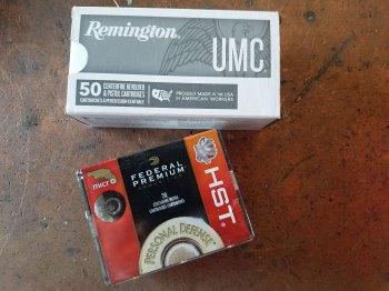 Federal HST ammunition box and Remington UMC Ammunition box