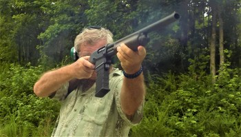 Bob Campbell shooting the Remington 870 DM shotgun