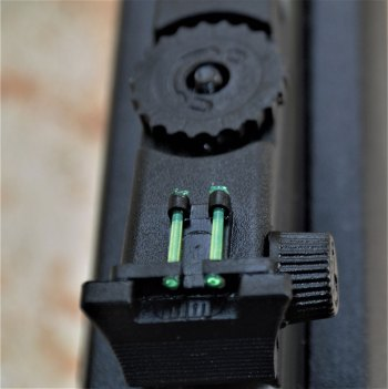 rear sight on the Rossi RS22 rifle