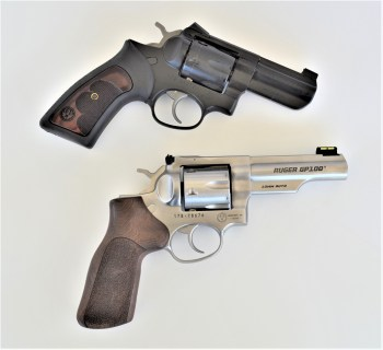 .357 Magnum revolver top and 10mm revolver bottom