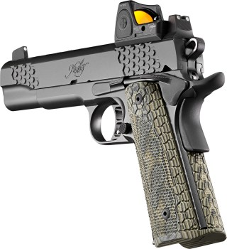 Kimber 1911 pistol with red dot sight