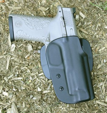 Bladetech holster with custom Glock pistol