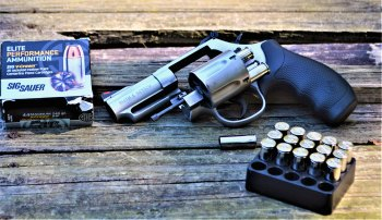 Smith and Wesson M69 .44 Magnum with open cylinder