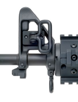 AR-15 front sight block with sling point attachment loop
