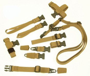 Blue Force Gear's SOC-C Sling Pak of coyote brown slings