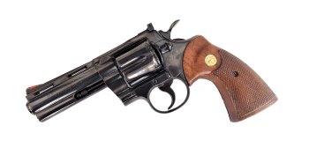 Colt Python revolver left revolver