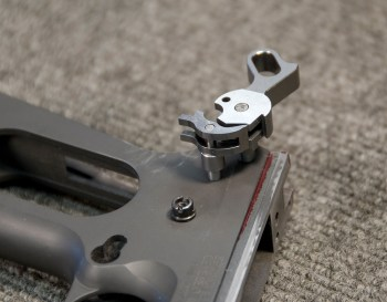 inserting the sear and hammer on a 1911 pistol