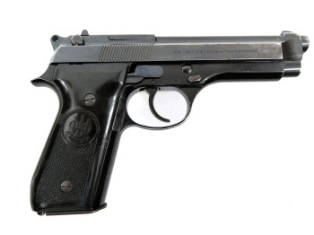 Beretta 92S pistol right profile black