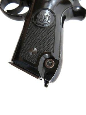 Magazine release button on the Beretta 92S