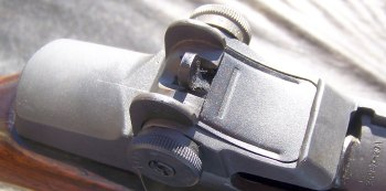 Aperatur sight on the M1 Garand rifle