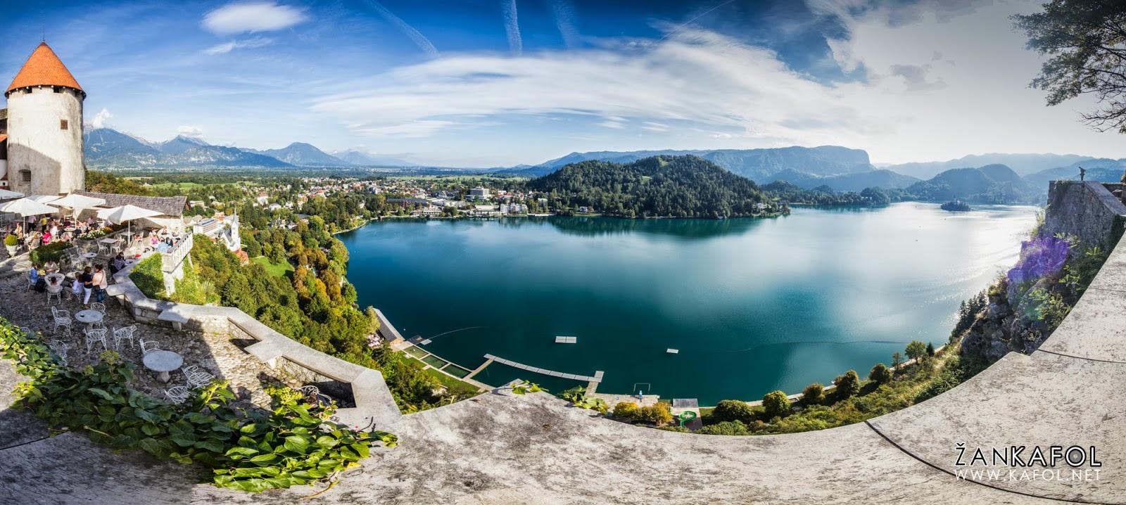 Panorama Bleda, Blejskega jezera in gradu