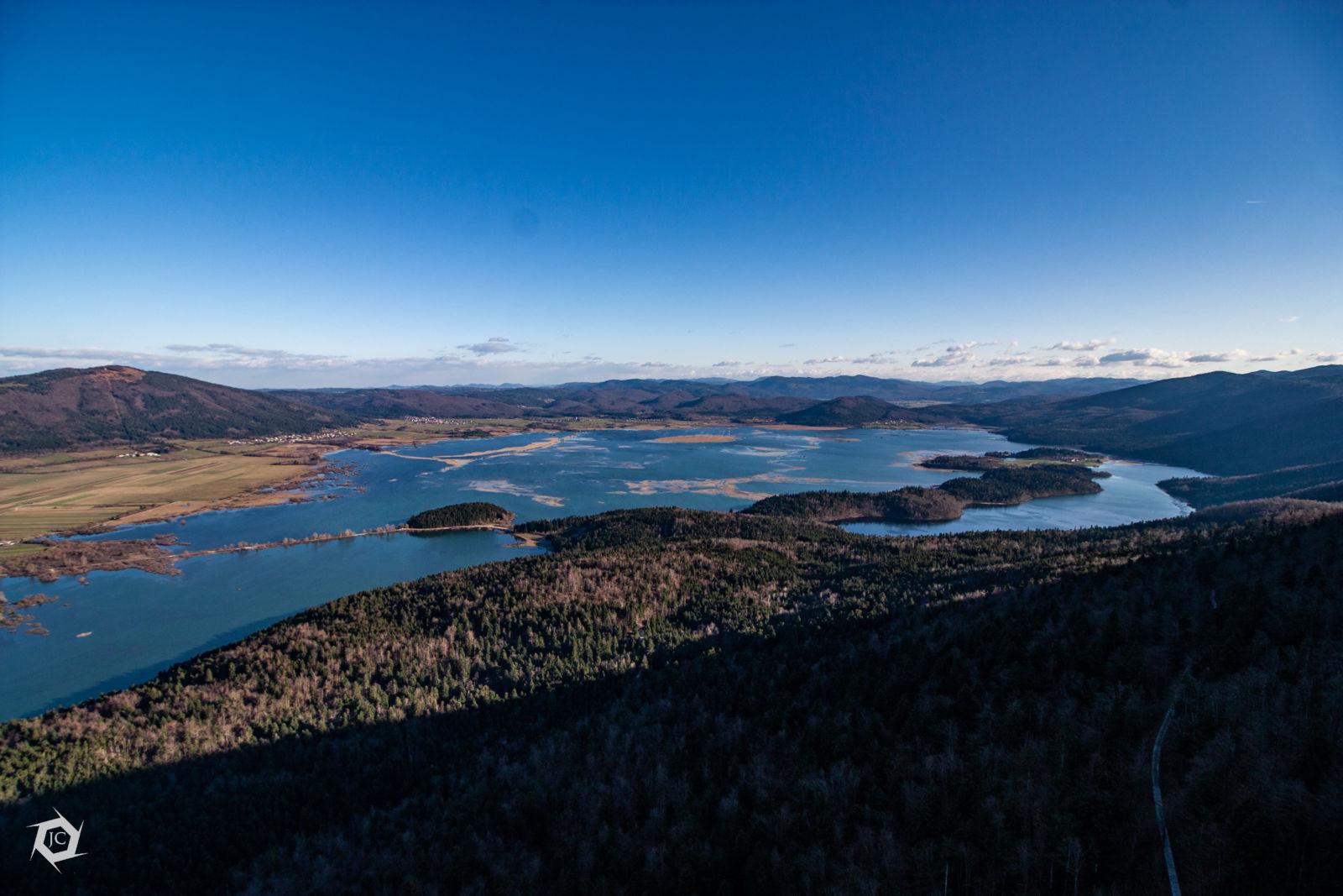 Razgled na Cerkniško jezero iz Javornikov