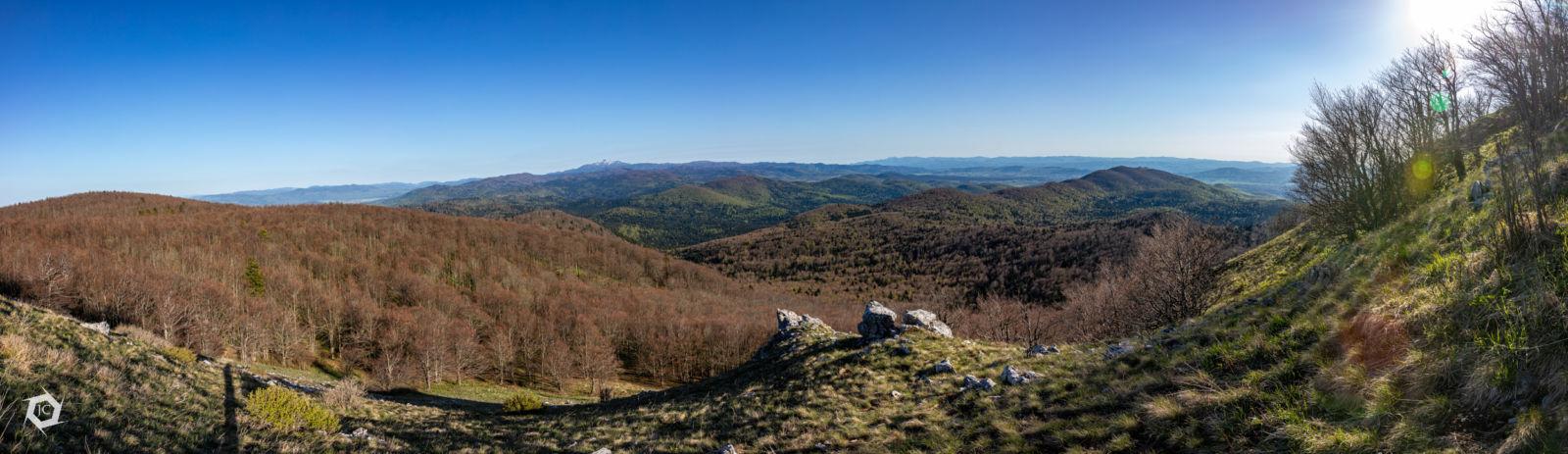 Panorama - razgled iz Velikega Kožljeka