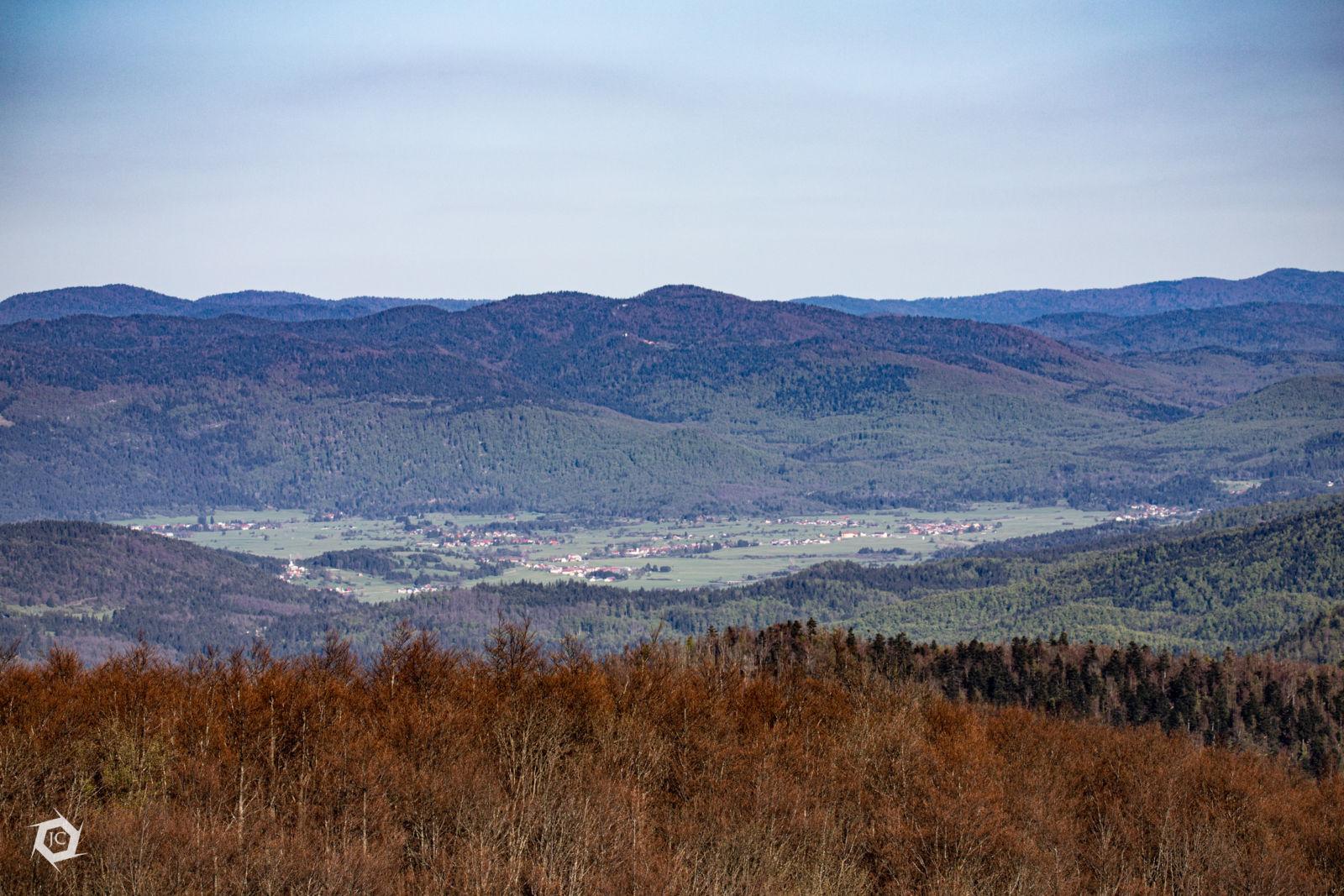 Loška dolina iz Velikega Kožljeka