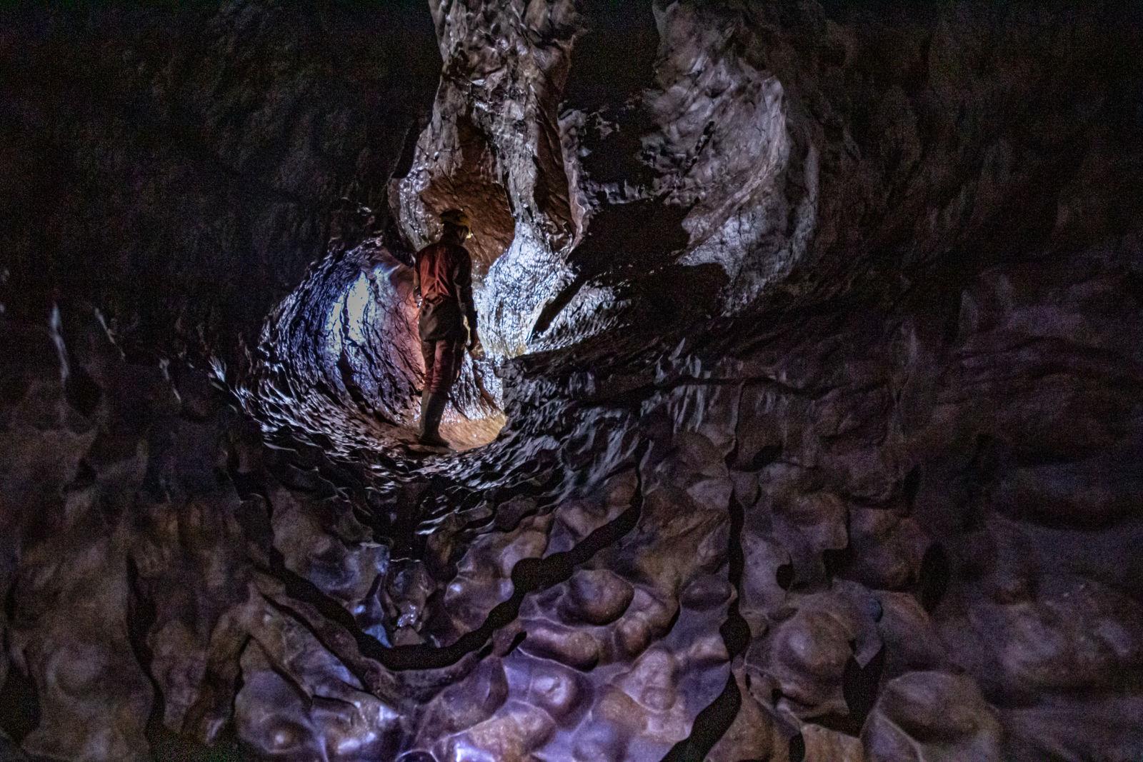 Draslje / erozijski lončki v Ocizeljski jami