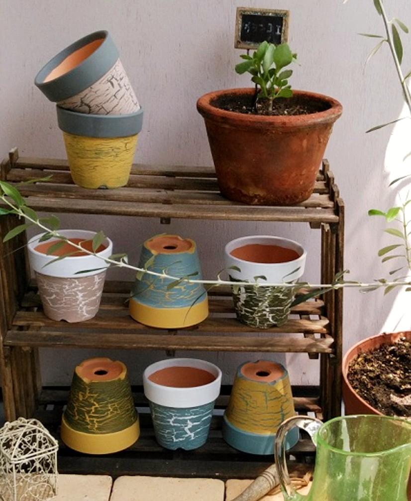 カラフル植木鉢
