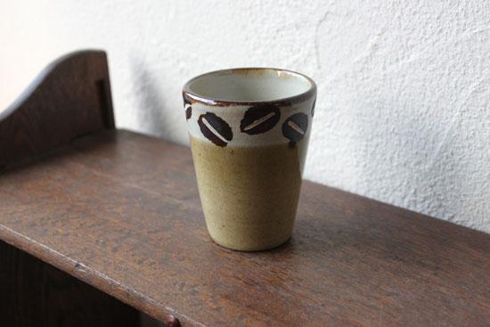 工房十鶴 コーヒー豆柄カップ