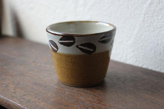 工房十鶴 コーヒー豆柄 フリーカップ
