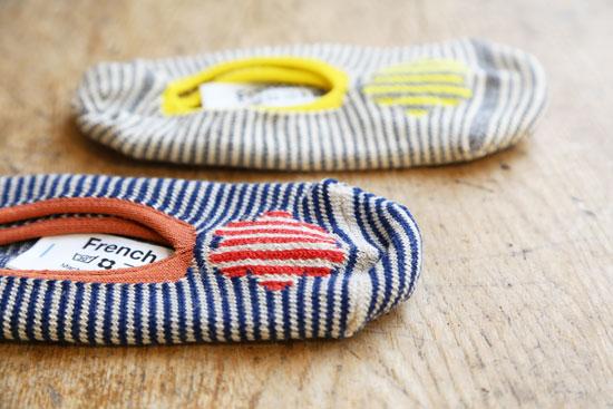 フレンチブルの靴下 フラワーカバー