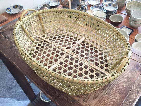 青森 根曲竹の楕円かご
