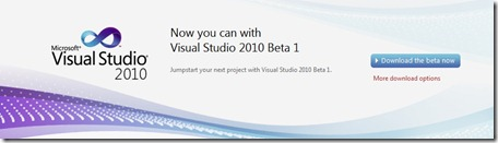 Visual Studio 2010 Beta 1 download