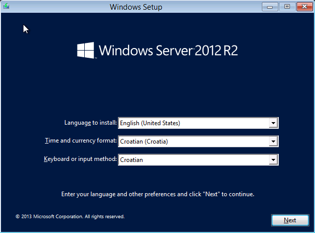 Windows Server 2012 R2 installation media issues (OEM