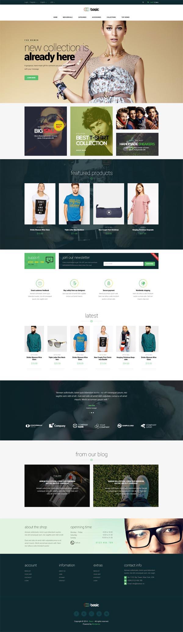 Basic - Multipurpose WooCommerce Theme