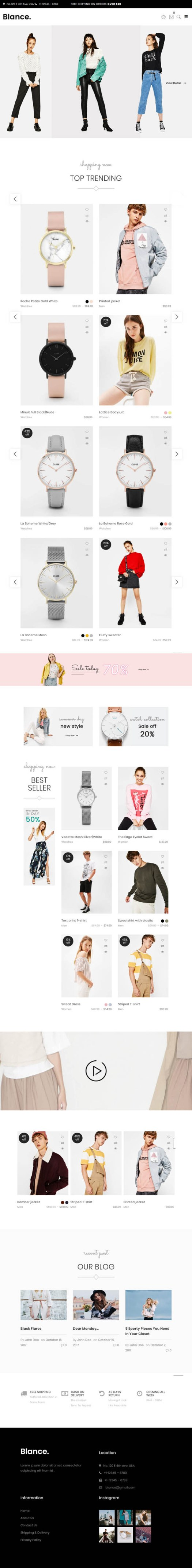 Blance : Clean, Minimal WooCommerce WordPress Theme