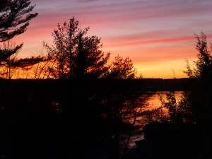 Spring sunset over a small Maine island copyright N. Hammond