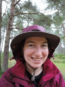 Mile 92 - Sheltering from the Rain, Tentsmuir Forest, Top tip - pull your hood over your hat to stop your hood flapping around your eyes! Sponsored by Janice and Gordon Thorburn, Richard Barker and Stephanie Kiel.