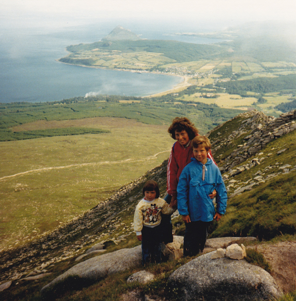 Descending Goatfell, July 1989