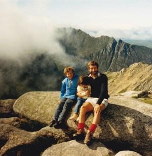 The summit of Goatfell, July 1989