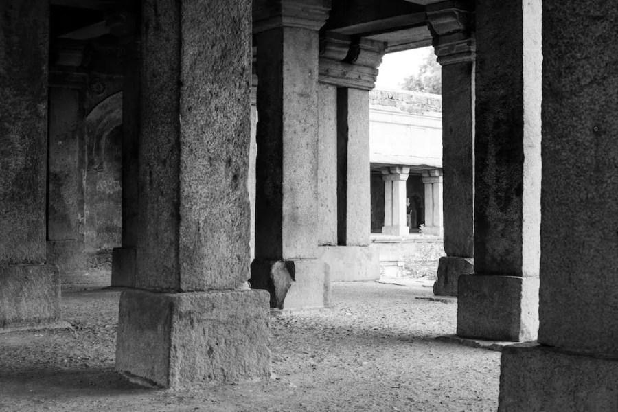 Inside the Hauz Khas ruins