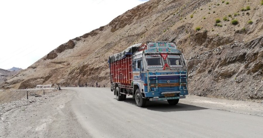 One of the many trucks on India roads. Photo © Karl Rock, all rights reserved.