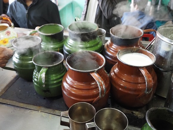 In Pakistan, chai is usually prepared in these pots. I wish I brought some home with me!