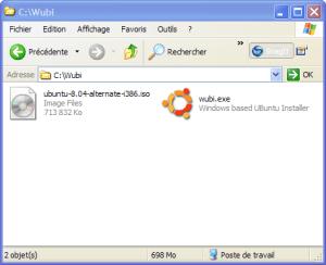 Wubi 8.04 - Eviter le téléchargement torrent de l'image iso