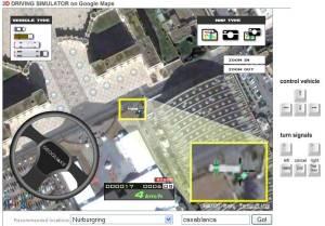 Simulateur de conduite sur Google Maps