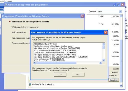 Microsoft veut nous empêcher de désinstaller son Windows Search ?
