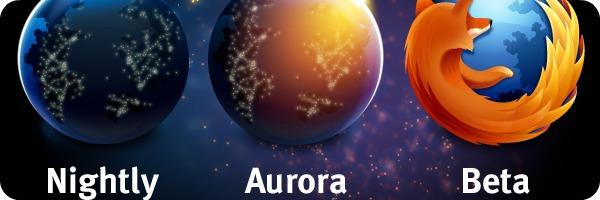 aurora nighly beta logos