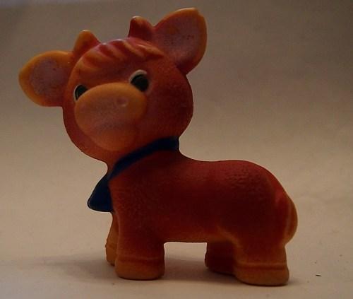 советская игрушка резиновая корова