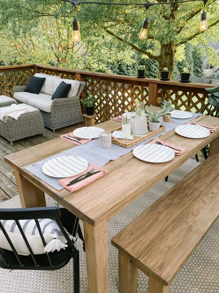 diy outdoor farmhouse table katie lamb