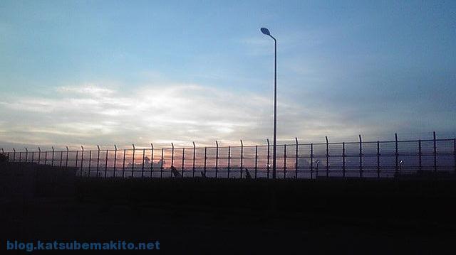 羽田空港 夕焼け