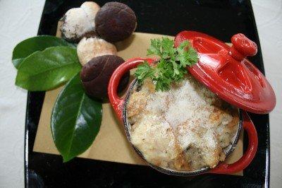 Zuppa di funghi porcini gratinata al forno